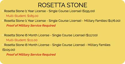 Rosetta Stone-Pricing