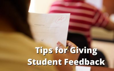 Tips for Giving Student Feedback